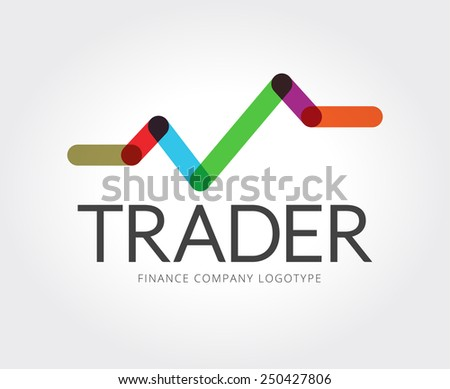 Abstract finance app vector logo template for branding and design - stock vector