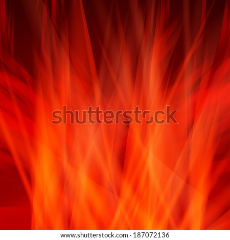 Abstract fire flames on a black background.  eps 10 - stock vector