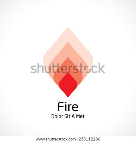 abstract fire icon - stock vector