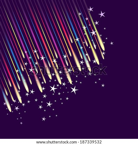 Abstract fireworks background - stock vector