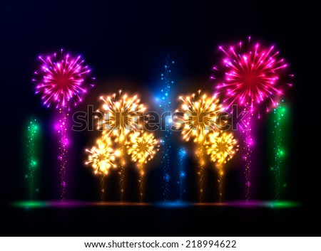 Abstract fireworks background. Vector eps10. - stock vector