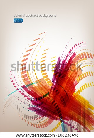 Abstract flame background - stock vector
