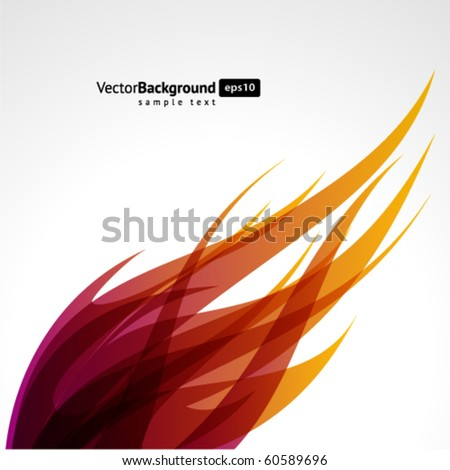 Abstract flame wave vector background - stock vector