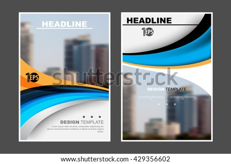 abstract flat layout wave elements marketing business material corporate design template. eps10 vector - stock vector