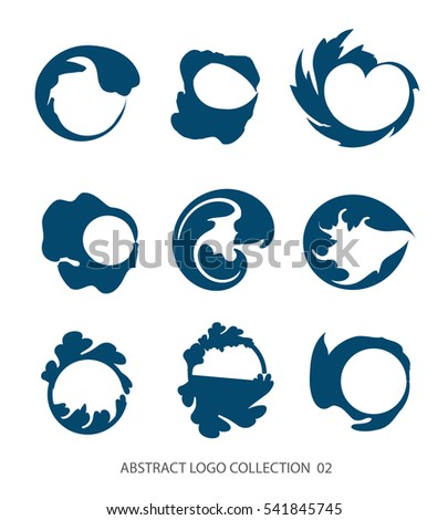 abstract flat simple logo collection business stock vector 541845745 rh shutterstock com logo design vector graphics military logos vector graphics