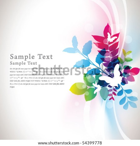 abstract flora background 09 - stock vector
