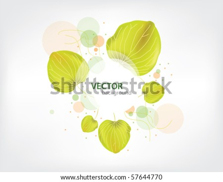 abstract flora background - stock vector