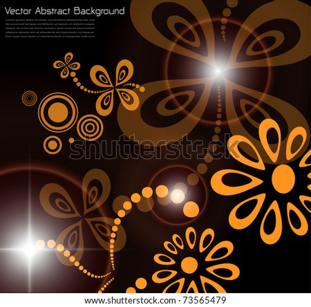 Abstract flora background, vector illustration.