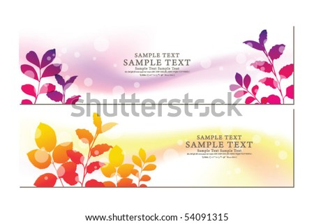 abstract flora banner 03 - stock vector