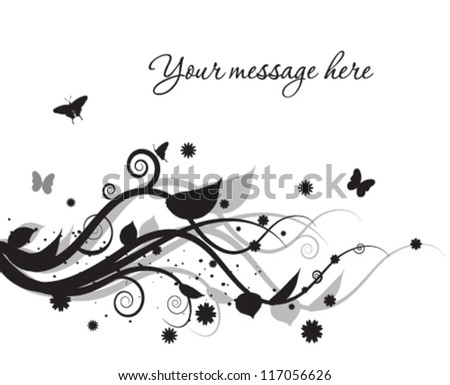 Abstract floral background. - stock vector