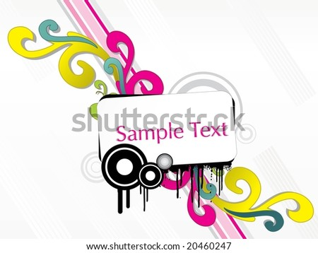 abstract floral background, element for design, wallpaper