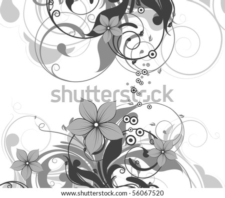 Abstract floral background for design.
