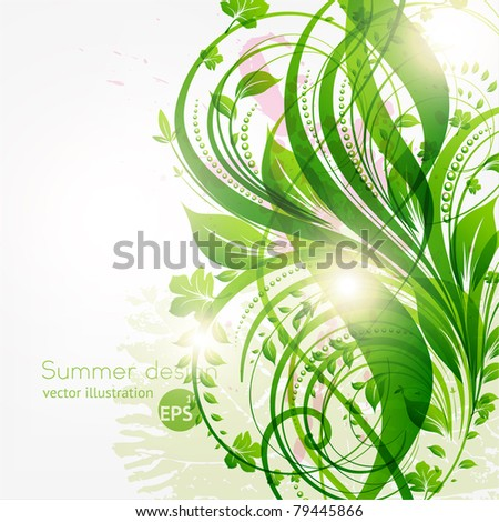 abstract floral background for summer design with place for your text.