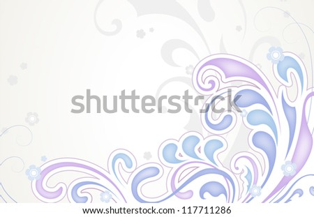 Abstract floral background in pastel colors. EPS10 vector format - stock vector
