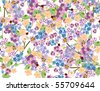 abstract floral background of the various elements - stock vector