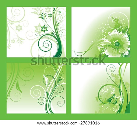 Abstract floral background vector - stock vector