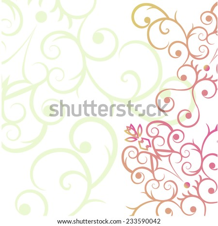 Abstract floral background. vector eps 10 - stock vector