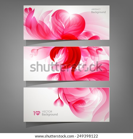Abstract floral background. Vector eps 10. - stock vector