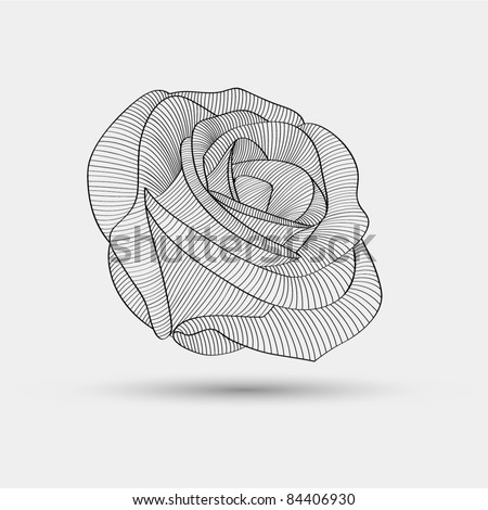 Abstract floral background. Vector flower rose.  Floral element for design. - stock vector