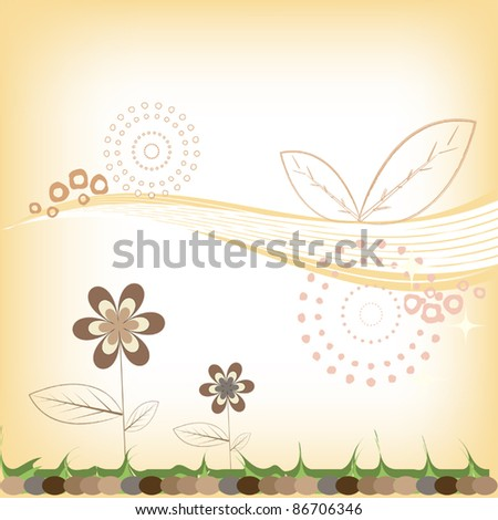 abstract floral background warm