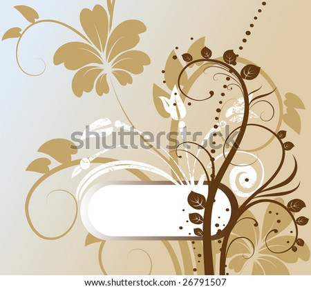 abstract floral background with free space for your text