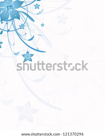 Abstract floral background with place for text/Vector illustration