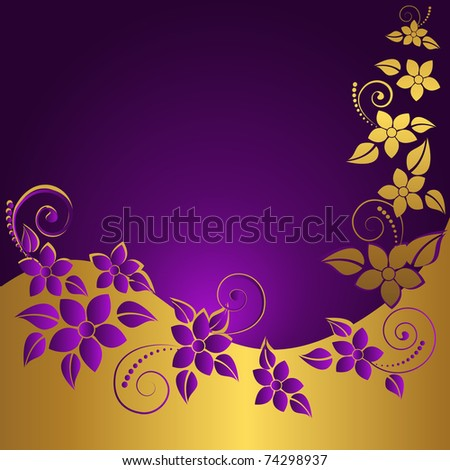 Abstract floral background with place for your text. Vector. - stock vector