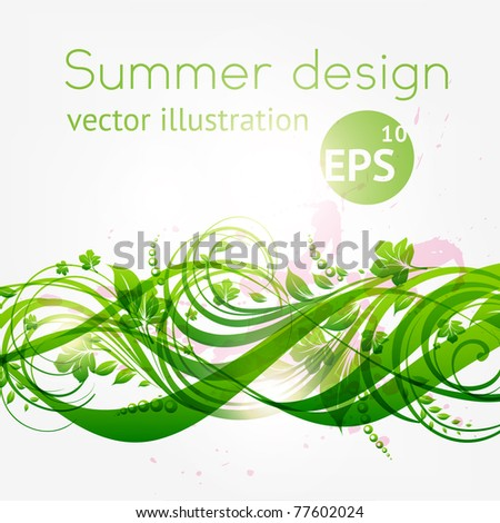 abstract floral background with place for your text. vector