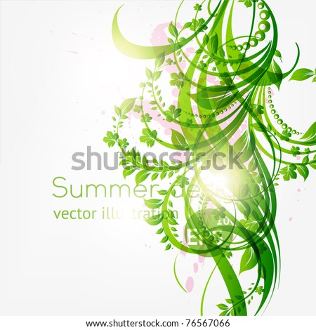 abstract floral background with place for your text. vector eps 10 - stock vector