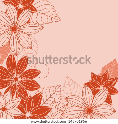 Abstract floral background with red and pink flowers. Jpeg version also available in gallery