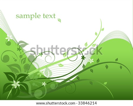 Abstract floral background with space for your text, vector
