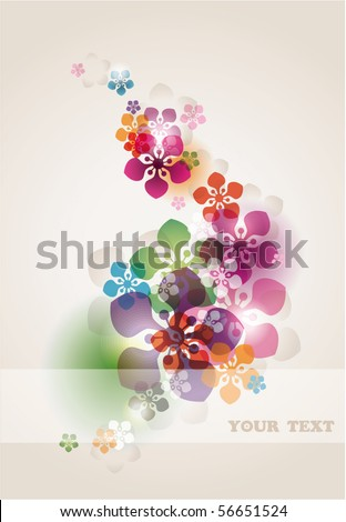 abstract floral background with transparency effect   eps10 - stock vector