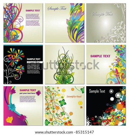 Abstract floral backgrounds - stock vector