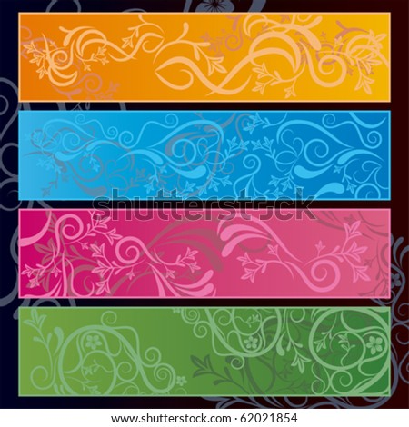 Abstract floral banner. Illustration vector. - stock vector