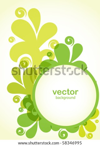 Abstract floral card in green colors - stock vector