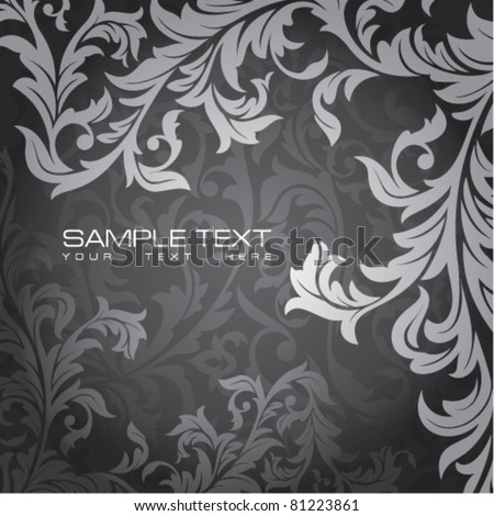 abstract floral card with free space for your text - stock vector