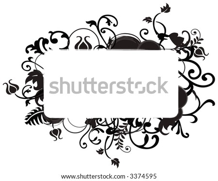 Abstract floral chaos, element for design, vector illustration