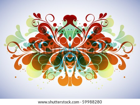 Abstract floral composition - stock vector