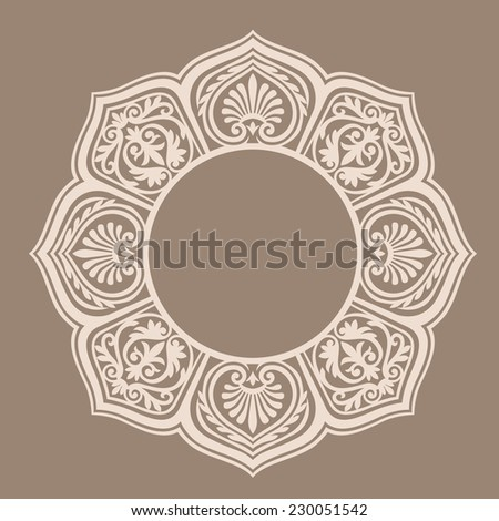 abstract floral decoration, vector image  - stock vector