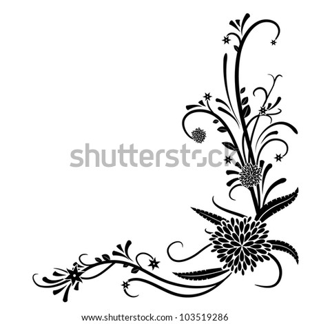 abstract floral design element - stock vector