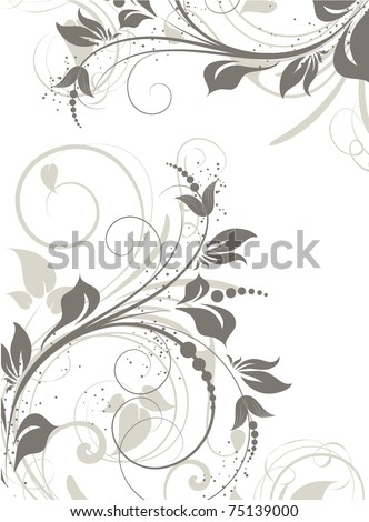 Abstract floral frame for design. - stock vector