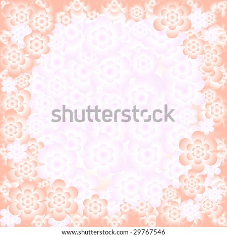 Abstract floral gentle pink pattern with place for the text (vector)