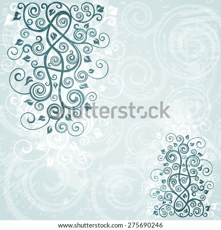 Abstract floral grunge background - stock vector