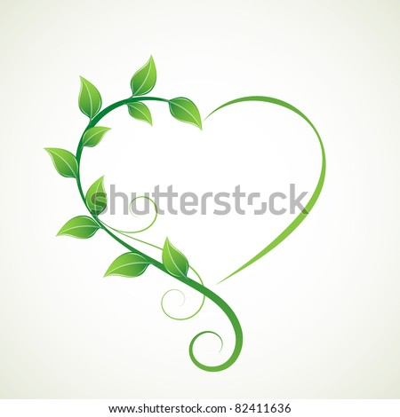 Abstract floral heart. Element for design. - stock vector