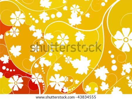 abstract floral mosaic background