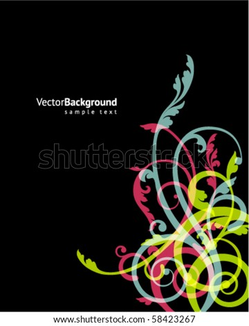 Abstract floral ornamental background - stock vector