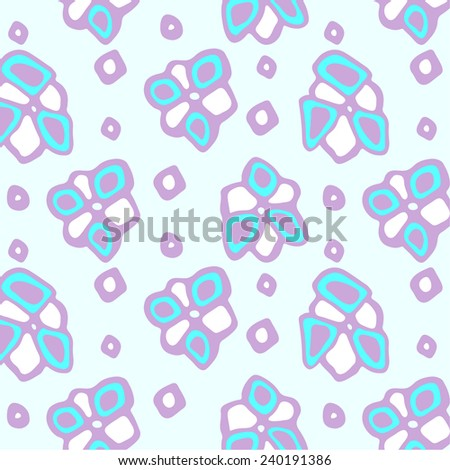 Abstract floral pattern. - stock vector