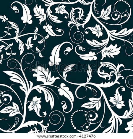 Abstract floral pattern, element for design, vector illustration