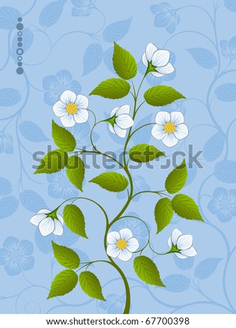 Abstract floral pattern. Vector illustration.