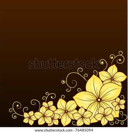 abstract floral poster - stock vector